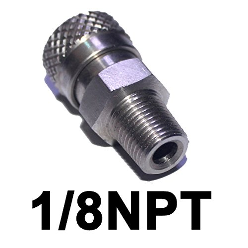 Outdoor Guy PCP Air Rifle 8mm Stainless Quick Release Disconnect Coupler Fitting Female Socket for Filling (1/8NPT) (1 PCS) (Best Pcp Air Rifle On The Market)