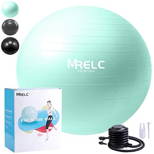 MRELC Exercise Ball Yoga Ball Fitness Ball Birthing Ball (75cm), Slip Resistant Stability Balance Ball for Fitness…