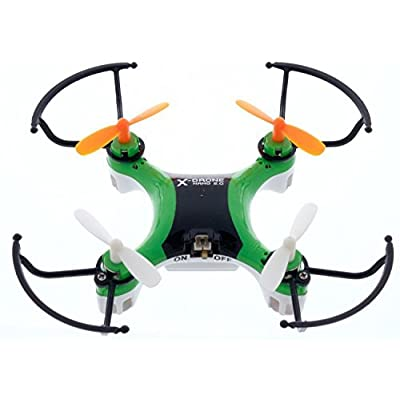 "X-Drone Nano 2.0 - ""Beautiful Design and Durable"" - Aerial Drone Quadcopter Radio Controlled RC flyer Quad Copter Helicopter - nano micro mini small - Worry-Free Warranty - ""Fly it, Love it!"" - Green: Toys & Games"