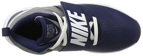 Nike Jungen Hold Hustle D 8 (gs) BasketballSko Blau (midnat Marineblå / Hvid-cool Grå) X0nAcU