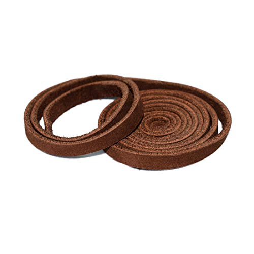 Hide & Drink, Leather Strong Strap (0.25 in.) Wide, Cord Braiding String, Medium Weight (1.8mm Thick) (24 in.) Long for Crafts/Tooling/Workshop :: Swayze Suede