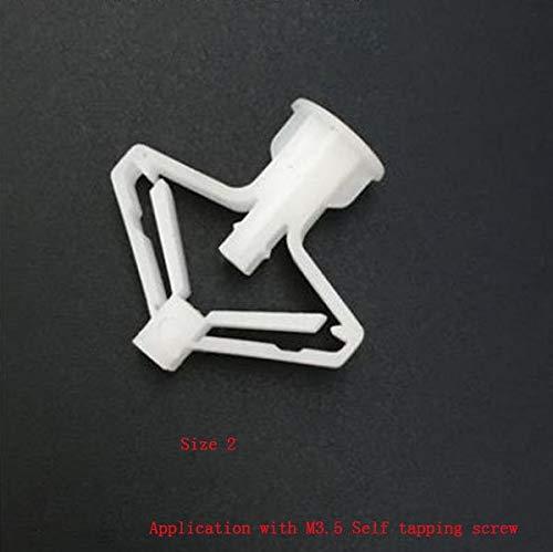 Ochoos Plastic plasterboard Wall Anchor, Wing Gypsum Plaster Wall Ceiling Expansion Plug Bolt anchoring Gypsum-Lath setscrew - (Specification: Size 2)