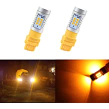 Dantoo 2 x 3057 3156 3157 4057 4157 Turn Signal Bulbs 21 SMD Extremely Bright Amber Yellow LED Bulbs for Turn Signal Lights Blinker Lamps
