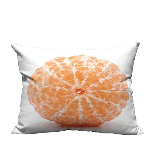 YouXianHome Sofa Waist Cushion Cover Peele t gerine or m Darin Fruit Isolate on White backgroun Cutout Decorative for Kids Adults(Double-Sided Printing) 13.5x19 inch