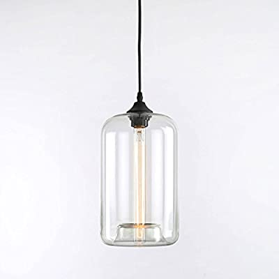 Windsor Heights Clear Glass Single Bulb Pendant with Vintage Filament Bulb Included