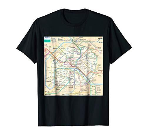 Paris subway map - France - T-shirt