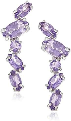 Sterling Silver Genuine Gemstones Earring Jackets