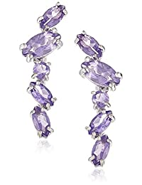 Sterling Silver and Genuine Amethyst Earring Jackets