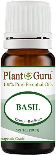 Basil Essential Oil 10 ml. 100% Pure Undiluted Therapeutic Grade.