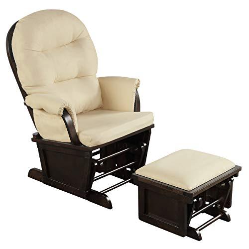 Costzon Baby Glider and Ottoman Cushion Set