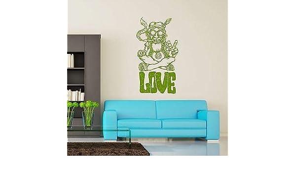 pegatinas de pared corazones pegatinas de pared infantiles Hippie Love Marihuana Weed Smoking: Amazon.es: Bricolaje y herramientas