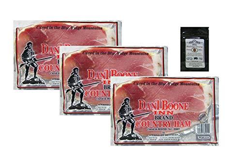 Dan'l Boone Country Ham 3 - 12oz Pkgs (2 1/4 Lbs) with Red Eye Gravy Sample