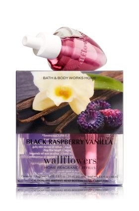Bath & Body Works Wallflowers Home Fragrance Refill Bulbs Black Raspberry Vanilla 2 Pack by Bath & Body Works