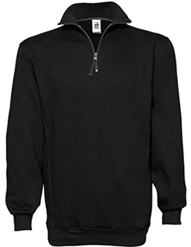 Badger 1/4 Zip Fleece Pullover Black jackets Size Small