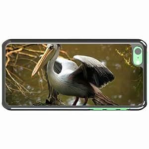 iPhone 5C Black Hardshell Case beak color river Desin Images Protector Back Cover