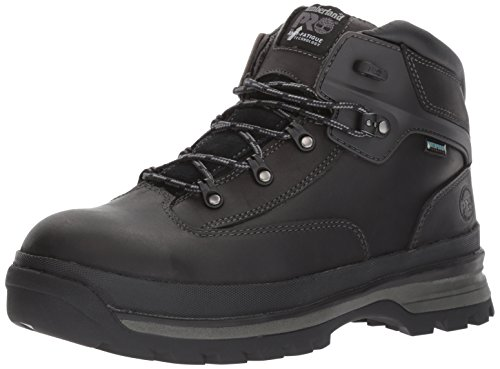 Timberland PRO Men's EURO Hiker Alloy Toe Waterproof Industrial and Construction Shoe, Black Full Grain Leather, 9 W US