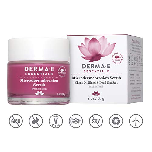 DERMA E Microdermabrasion Dead Sea Salt Scrub, 2oz (Best Monthly Makeup Box)