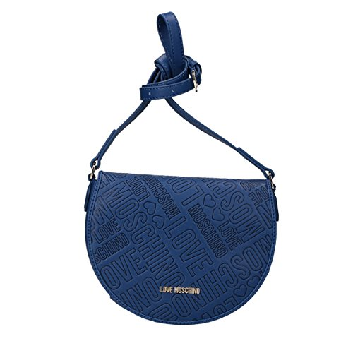 Love Moschino Embossed Pu crossbody blue