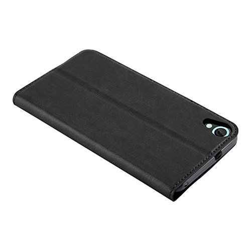Cadorabo Case works with HTC DESIRE 820 Book Case in NIGHT BLACK (Design INVISIBLE CLOSURE) – with Magnetic Closure, Stand Function and Card Slot – Wallet Case Etui Cover PU Leather by Cadorabo (Image #6)