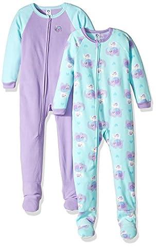 Gerber Baby 2 Pack Blanket Sleeper, elephants, 12 Months - Infant Footed Sleepwear