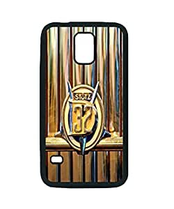 1933 Stutz Dv-32 Five Passenger Sedan Emblem ~ For Case Samsung Galaxy S5 Cover Black Hard Case ~ Silicone Patterned Protective Skin Hard For Case Samsung Galaxy S5 Cover - Haxlly Designs Case