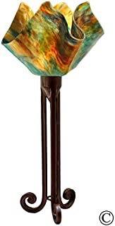 product image for Jezebel Signature Torch Light. Hardware: Brown with Brown Highlights. Glass: Daylily, Flame Style