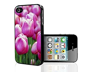 Pink Tulips Hard Snap on Phone Case (iPhone 5/5s) by icecream design