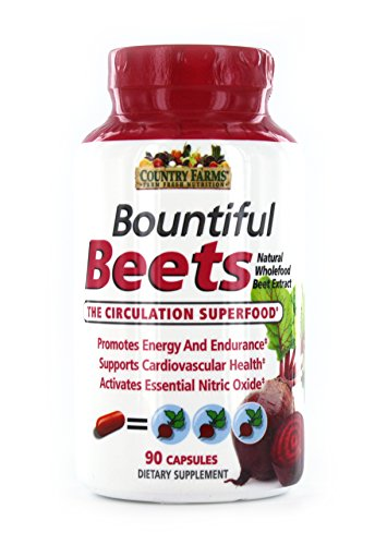 Country Farms Bountiful Beets Capsules, Wholefood Beet Extract Superfood, Circulation Superfood, 90 Count Review