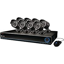 Swann SWDVK-163208S-US 3200S 16-Channel 960H DVR with 1TB HDD and 8 700TVL Security Cameras (Black)