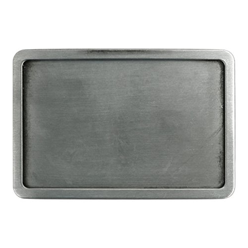 Landisun Handmade DIY Plain Frame Rectangle Belt Buckle - Buckle Plain