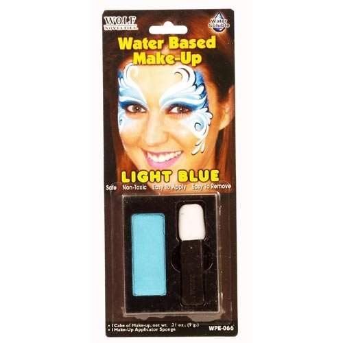 Halloween Rag Doll Face Makeup (Light Blue Water Based)