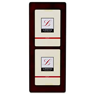 Lawrence Frames Walnut Wood 5x7 Multi Double Vertical Picture Frame