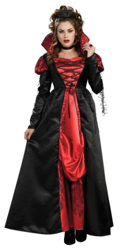 Vampiress Vampire Costumes (Rubie's Costume Transylvanian Vampiress Dress With Tiara And Choker, Black, Standard)