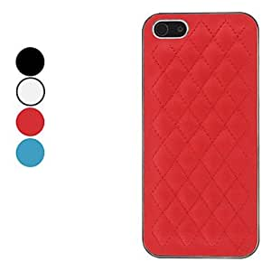 DD Check Pattern Hard Case for iPhone 5/5S (Assorted Colors) , White