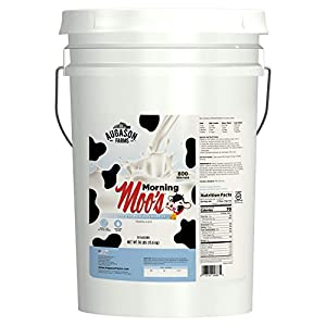 Augason Farms Morning Moo's Low Fat Milk Alternative Emergency Food Storage 30 Pound Pail
