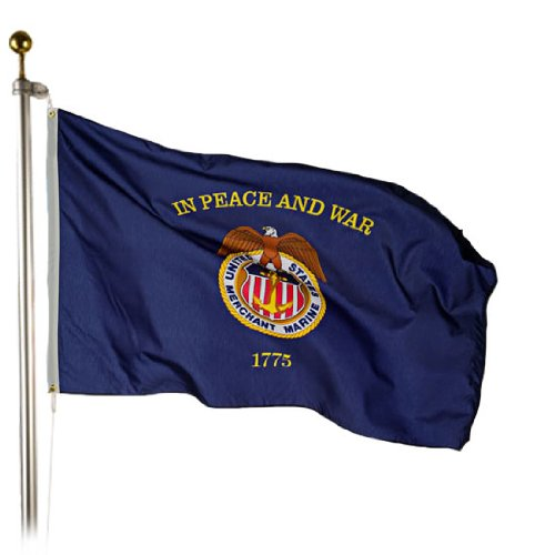 Valley Forge Merchant Marine Flag 3x5 Foot Perma-Nyl by Valley Forge