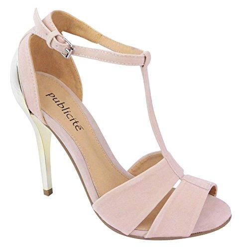 Knöchelriemen Party Creme Schuhe 3 High Größe 8 Stiletto Frauen Heel Abschlussball Sandal Abend Damen BtFwqxHdB