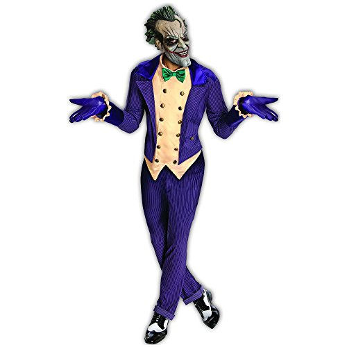 Rubie's Batman Arkham City the Joker Adult Costume, Standard | 880585 (Authentic Joker Costume)