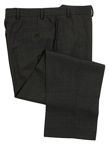 Gray Wool Dress Pants (Ralph Lauren Men's Flat Front Solid Charcoal Gray Wool Dress Pants - Size 34 x30)