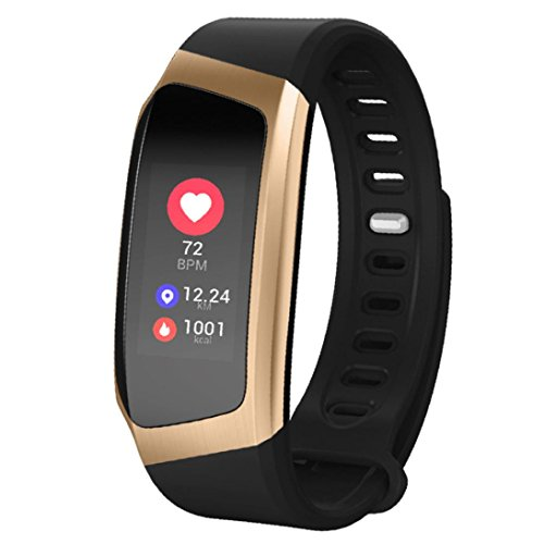 Price comparison product image Fitness Tracker E18,  Boofab Activity Tracker Watch Smart Bracelet with Heart Rate Monitor,  Color Screen with Step Counter Pedometer Watch Waterproof Smart Watch (D)