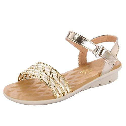 In 6 Oro colore Sandali Dimensione Casual Zeppa Oro Da Eeayyygch Tessuto Fibbia Con Uk Donna tUqnx7