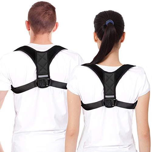 Posture Corrector Back Spinal Support Brace for Women & Men - Physical Therapy Strap Effective Comfortable for Slouching and Hunching - Shoulder & Neck Pain Relief L