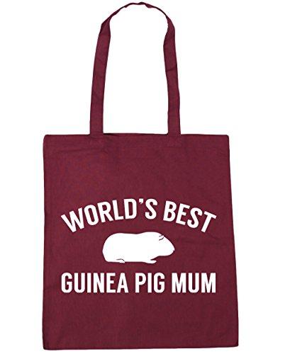 Gym Tote World's mum x38cm Shopping Burgundy 10 guinea HippoWarehouse litres Bag Beach pig 42cm best XURAnS0