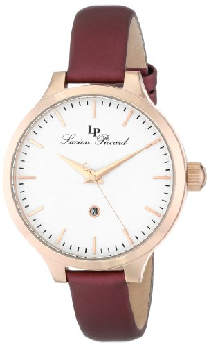 Lucien Piccard Women's LP-12917-RG-02-BUR Lleida Analog Display Japanese Quartz Red Watch