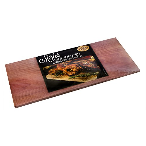 The BBQ Chef Wine Infused Cedar Grilling Plank Merlot, Pack of 4 (Bbq Cedar Plank compare prices)