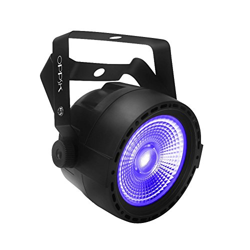 [OPPSK Black Lights with 30W COB UV LED by RF Remote and DMX Control for Neon Glow Stage Lighting] (Halloween Lighting)
