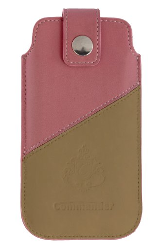PETER J?CKEL COMMANDER 2Tone Case No.1 XLS pink/beige Tasche zb. fuer Apple iPhone 5 / Innenmasse: c