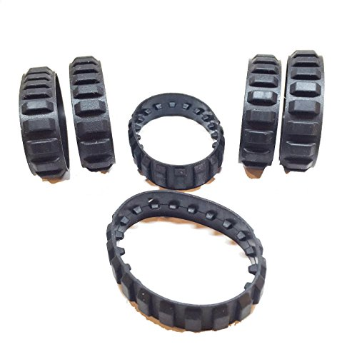 Lego-Parts-Rubber-Tread-Small-20-Tread-Links-Pack-of-6-Black