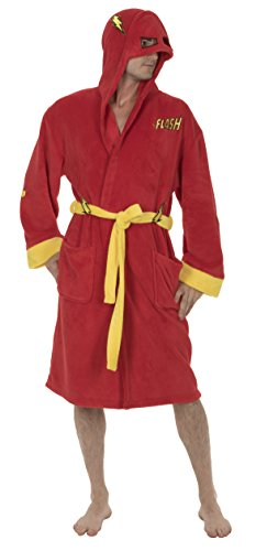 DC Comics The Flash Costume Hooded Fleece Robe Red