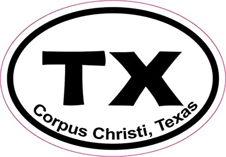 3in x 2in oval corpus christi sticker vinyl texas cities bumper stickers by stickertalk